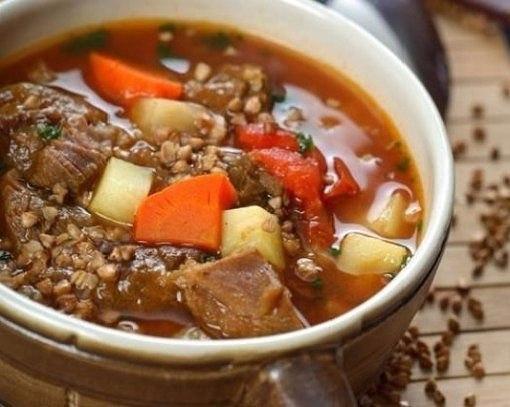 Суп из гречки с мясом Для приготовления супа