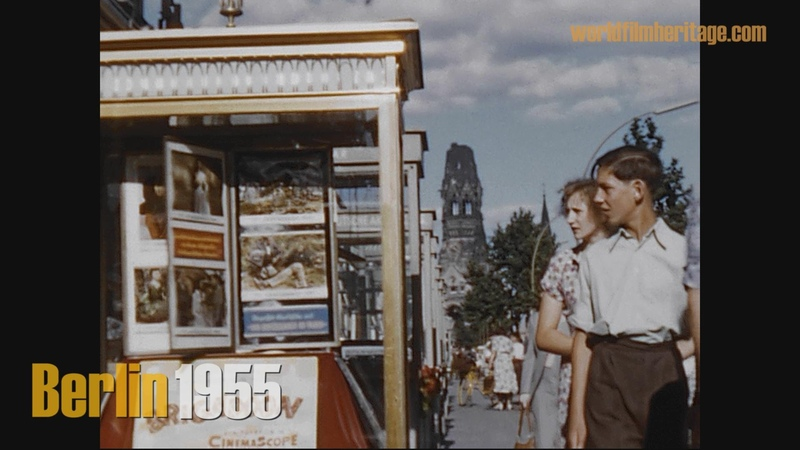 Berlin 1955 color - Brandenburger Tor ohne Quadriga - Ku´damm - Stadion - Funkturm u.a.