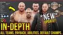 WWE 2K19 In-Depth Look All Tag Teams, PAYBACK, Abilities, Default Champs! Updated Entrance