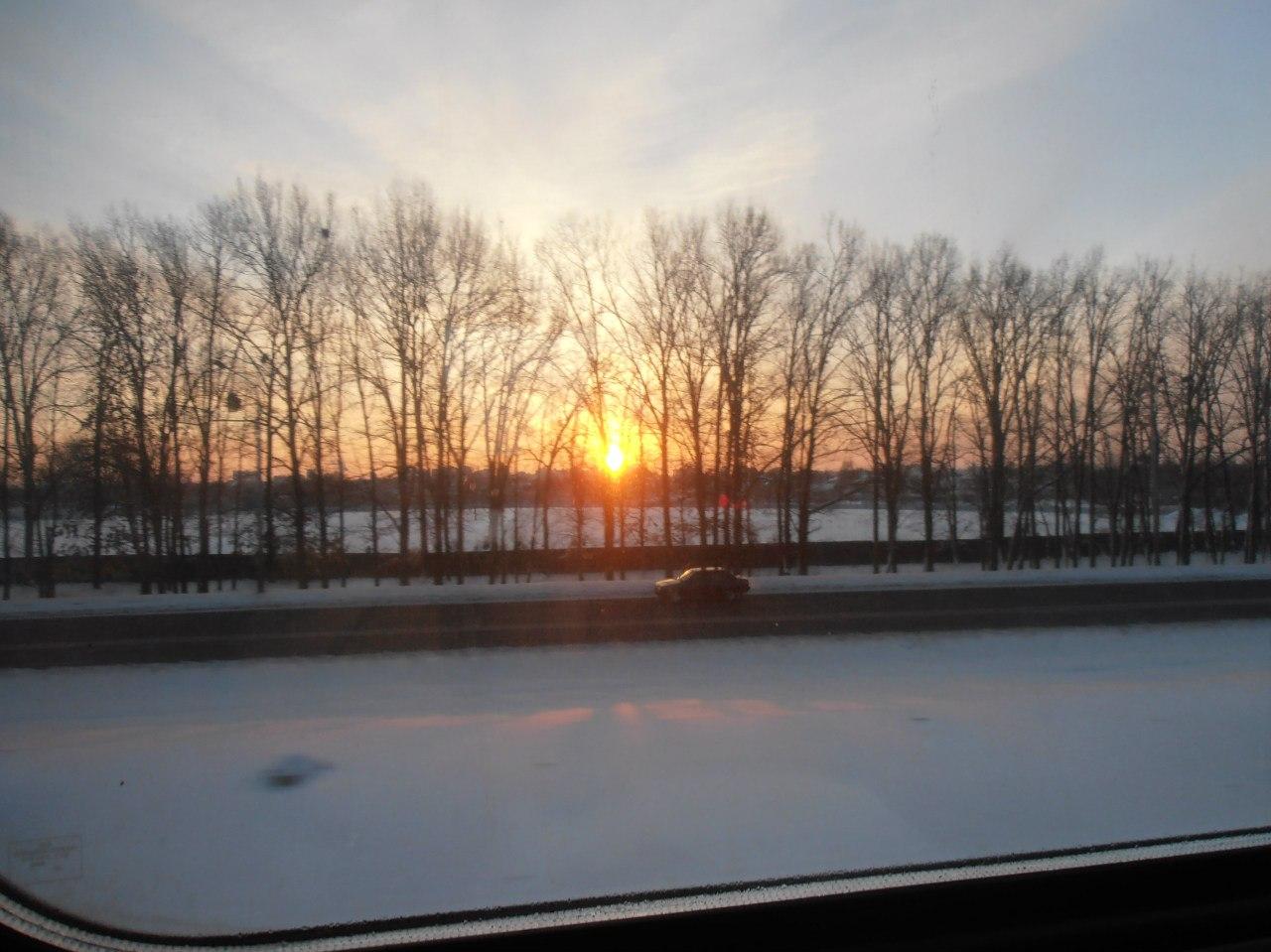 Киевское зимнее солнце