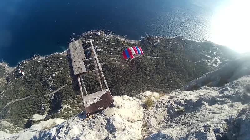 Бейс - 17 минут вдоль горы в динамике (Крым, Куш-Кая. )