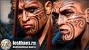 Сушенные татуированные головы дикарей майори — ценный предмет торга для цивилизованных европейцев