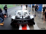 Lamborghini Veneno on track - Accelerations, Powerslides and Start Up