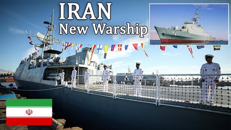 IRANIAN New Stealth Frigate Joined IRAN's Navy Southern Fleet پیوستن ناوچه جدید سهند