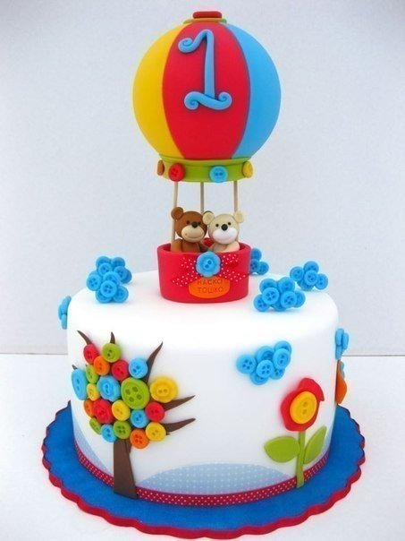 Красивые торты на годик фото