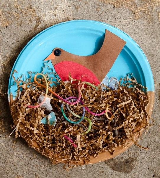 Сделать гнездо с птицей своими руками