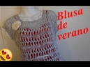 Blusa tejida con horquilla y crochet de una manera fácil y rápida
