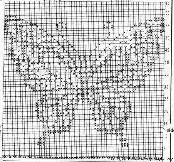 Схемы филейной вязки крючком (10 фото) - картинка