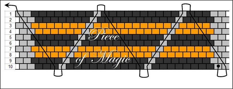 Мастер-классы: Георгиевская лента мозаичным плетением