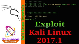 Debinject - Inject backdoor in deb file to Exploit Kali Linux 2017.1
