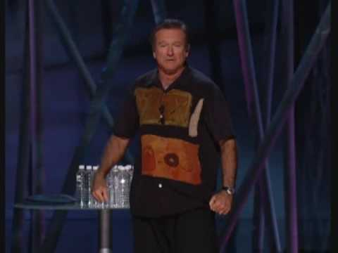 Robin Williams stand up Soccer and The French