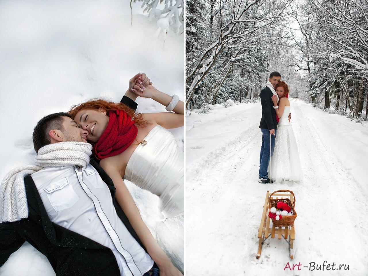 зимняя сказочная свадьба