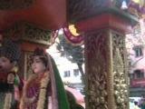 radha krishna temple in the holi festival