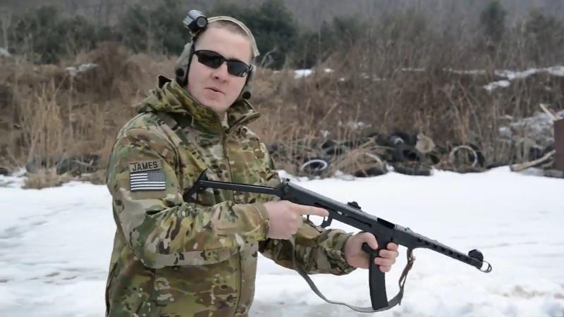 Стрельба из пистолет-пулемета ППС-43
