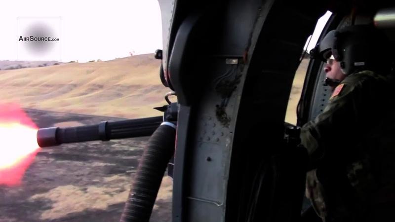 Helicopter Aerial Gunner Machine Gun Live Fire - HH-60 Pave Hawk