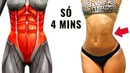 4 MINUTOS PARA DEFINIR SUA BARRIGA 8 Exercícios Para Definir Abdomen Em Casa Treino Abdominal