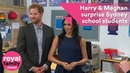Prince Harry and Meghan surprise students in western Sydney
