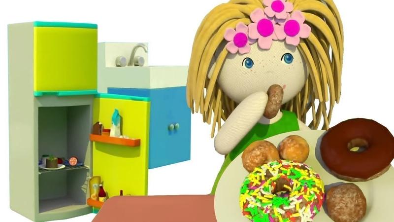 A casa de bonecas. A Cozinha. Animação infantil para meninas.
