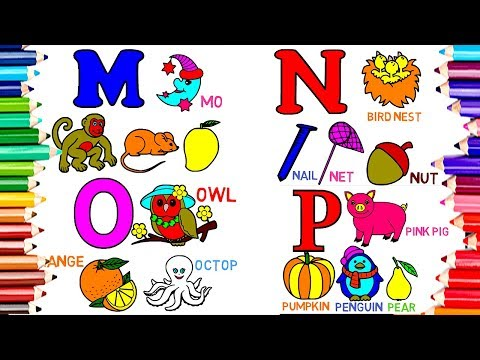 1 Hour Compilation - Drawing Paint Alphabet ABC Coloring Book   Kids Learn Colors Pages Video208