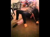 Sister beats up brother over candy !!!