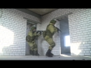 Инженерно штурмовое подразделение захватывает огневые точки условного противника
