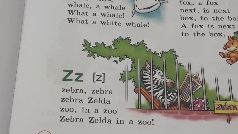 Комарова 2 кл., стр. 11, упр. 13, Zz