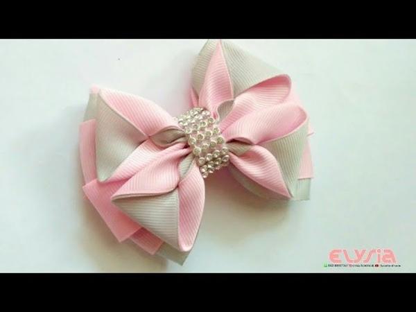 Simple Kanzashi Ribbon Bow   DIY by Elysia Handmade