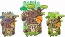 Mushroom doodle Illustration gaming style in illustrator