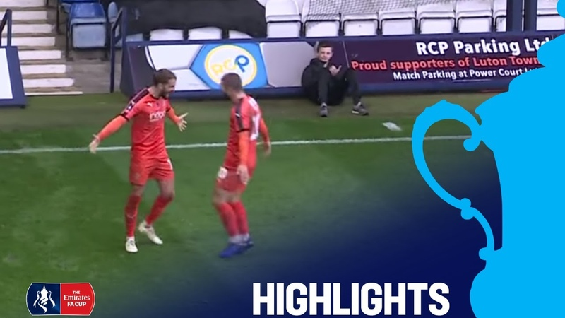 Luton Town 2 - 0 Wycombe Wanderers | Round 1 | Emirates FA Cup 201819