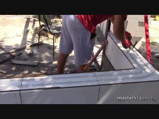 Технология штробления и армирования газоблока - [masterkladki]