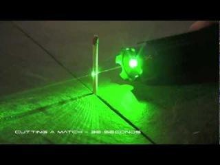 Мощная зеленая лазерная указка 1000мВт