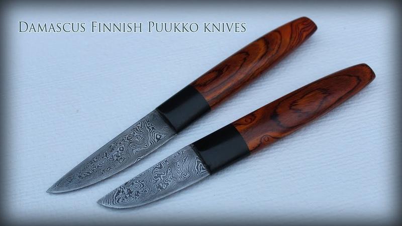 Damascus Finnish Puukko knives