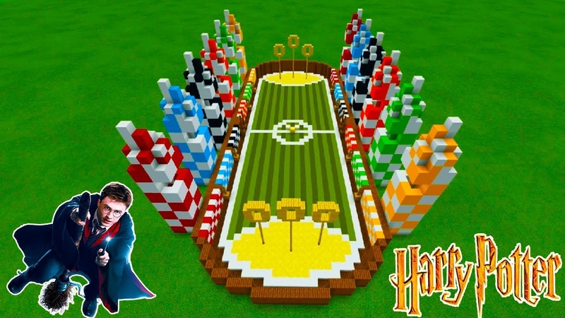 Minecraft Tutorial How To Make A Quidditch Pitch Harry Potter