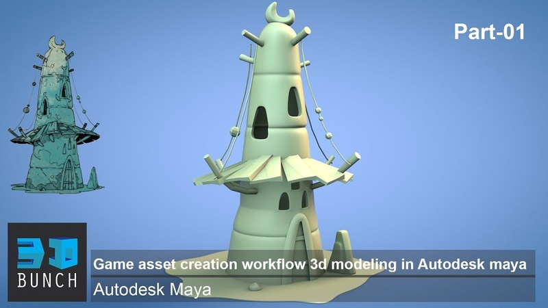Game asset creation workflow 3d modeling in Autodesk maya Part-01