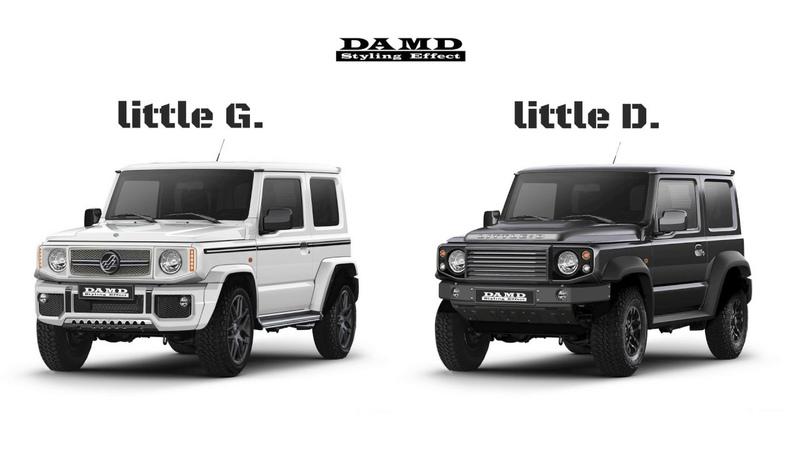 新型ジムニー用ボディキット little G little D  ダムドにて開発中!