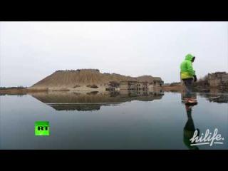 Заброшенная подводная тюрьма в Эстонии превратилась в каток