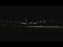 Ночная посадка в Анталье Smooth night landing in Antalya