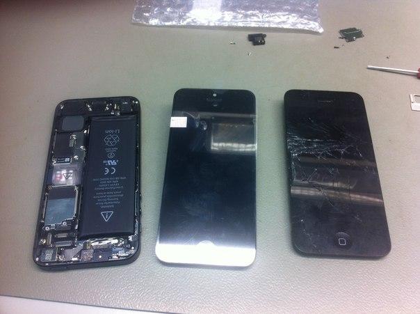 Меняем стекло на iphone 4 своими руками