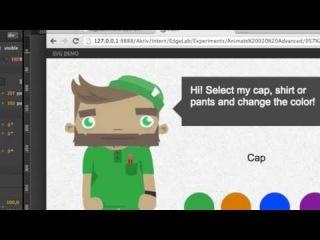 Interactive SVG (Adobe Edge Animate Online Week, Episode 10)