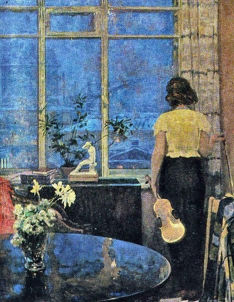 Картина «Голубые сумерки», 1966 год.
