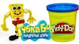 ГУБКА БОБ Квадратные Штаны из пластилина  Мультик для детей  Sponge Bob Square Pants play doh