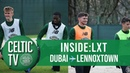 Burke Weah train at Lennoxtown for the first time
