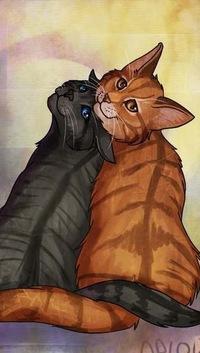 Рисунки пары котов