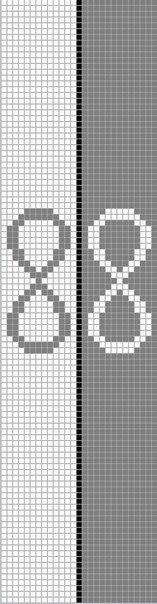 Схема бесконечности знаком фенечка со фенечки