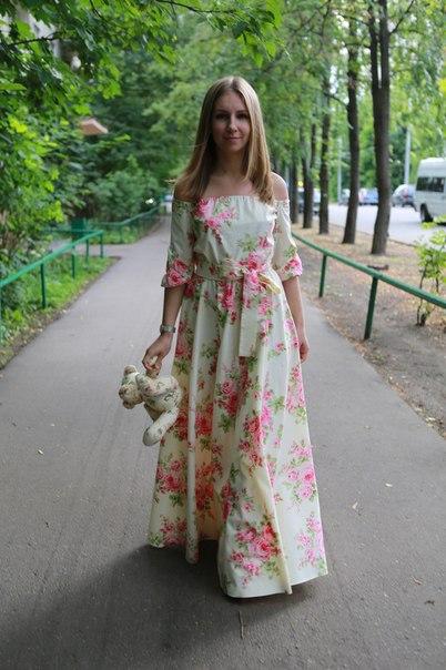 Платье в пол летнее хлопок