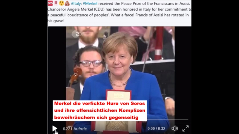 Merkel received the Peace Prize of the Franciscans in Assisi