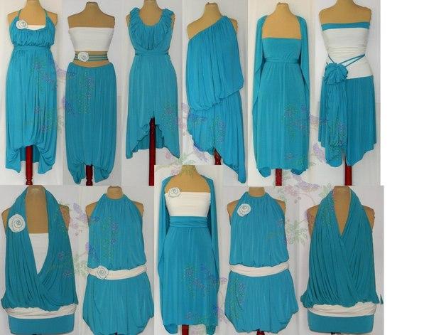 Уникальное платье-трансформер, которое подчеркнет ваш неординарный вкус и ярчайшую...