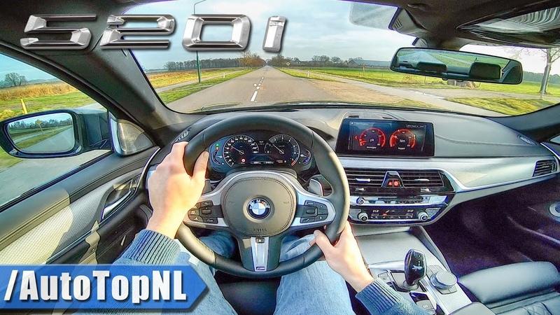 2019 BMW 5 Series G30 520i M Sport Plus POV Test Drive by AutoTopNL