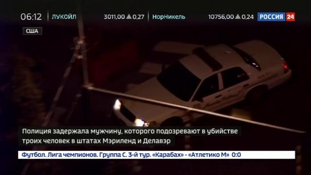 Новости на Россия 24 • Полиция задержала мужчину, открывшего стрельбу в бизнес-парке в Мэриленде