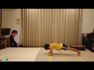 POWER AND STRONG KIDS baby Bruce Lee [UNBELIEVABLE] - Rusie Lmai